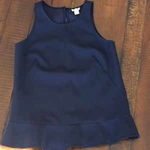 J Crew sleeveless peplum top